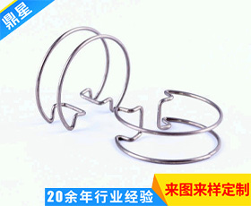 不锈钢双钢线卡箍弹簧 机械卡箍 卫浴卡箍弹簧