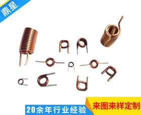 精密铜线剥皮弹簧 高品质五金弹簧 黄铜线异型弹簧