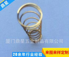 镀金螺旋压缩弹簧 精密压缩弹簧 感应压缩弹簧