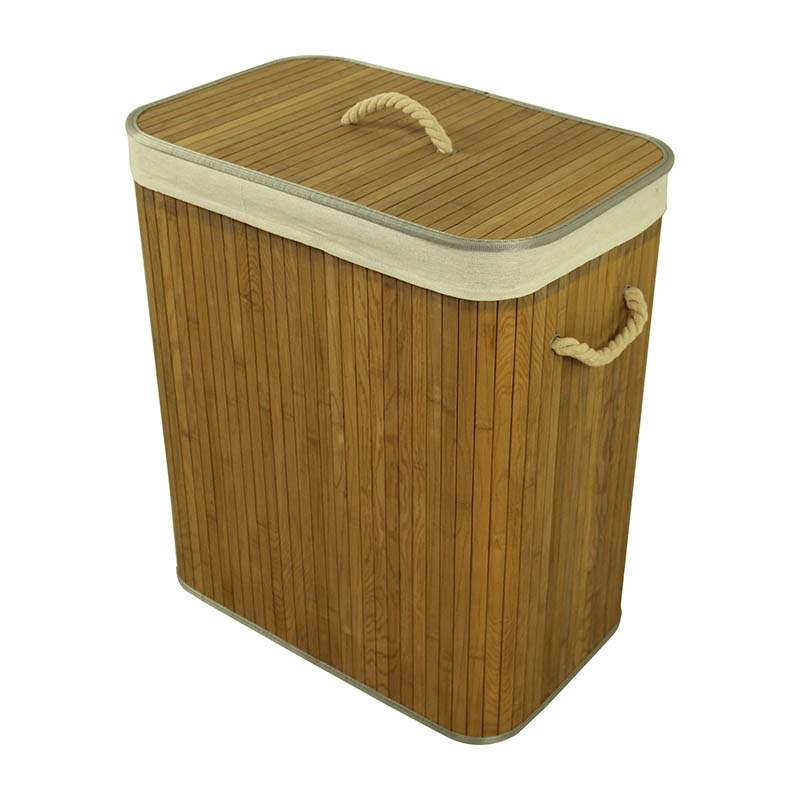 Square Wooden Laundry Hamper with Lid