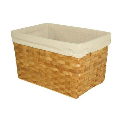 Hand-Woven Wicker Storage Basket