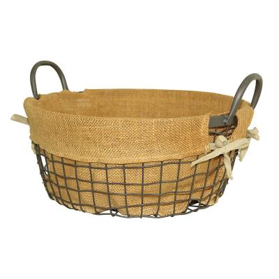 Wire Storage Basket with Handle (A)