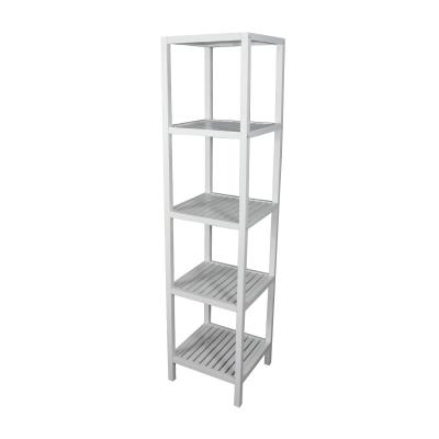Wood 5-Tier Compact Multipurpose shelf, Small