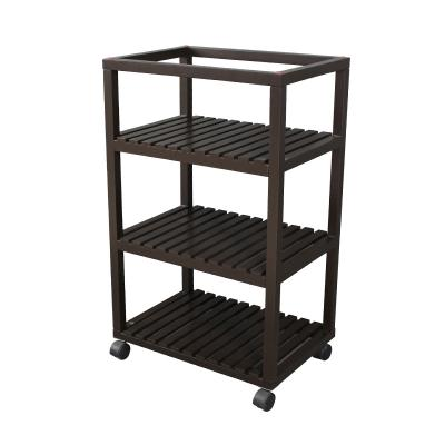 Wood Rolling Cart, Home Storage Carts-Utility Shelve