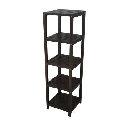 Wood 5-Tier Compact Multipurpose Shelf (A)