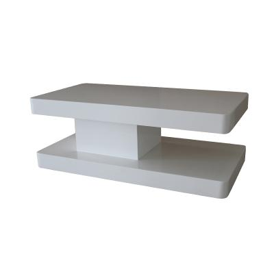 whirling White High Gloss lacquer coffee table