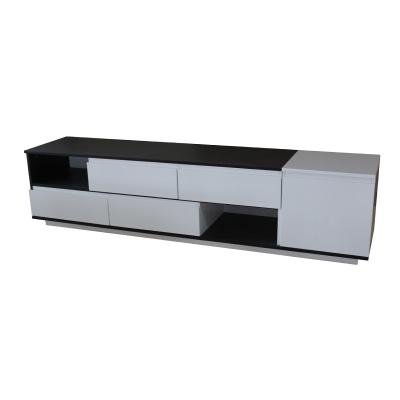 White and Black High Gloss lacquer TV table
