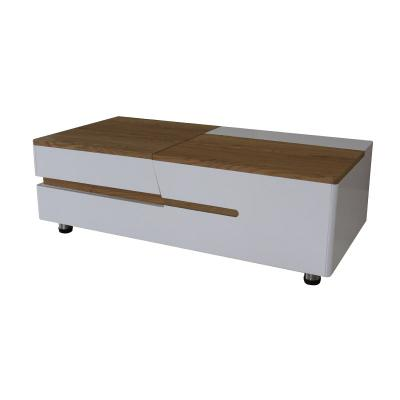 White and Weathered Brown High Gloss lacquer coffee table (C)