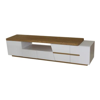 White and Weathered Brown High Gloss lacquer TV table (A)