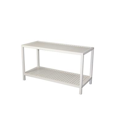 2-Tier  White Shoe Rack