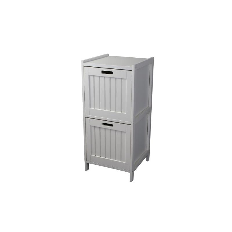White 2-Tier Storage