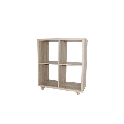 4 Section Hollowcore Cube Organizer-Weathered Brown (A)