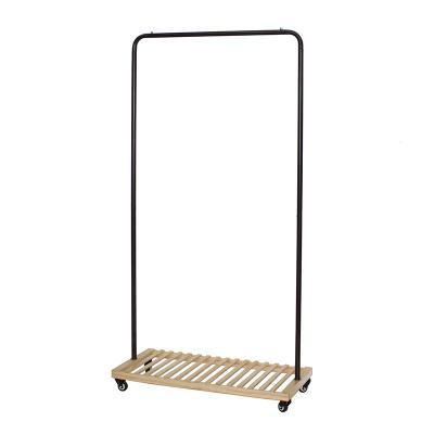 Garment Rack / Metal Pipe Clothes Rack  With Shelf, Lockable Wheels