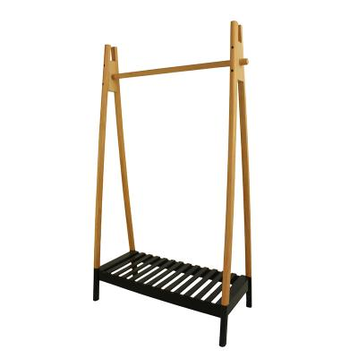 Solid Wood Heavy Duty Coat Rack / Extra Storage Space A-Frame Design Garment Rack